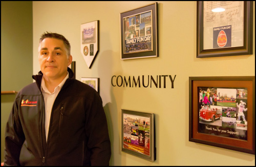 Owner, Rob Knox, showcases community involvement